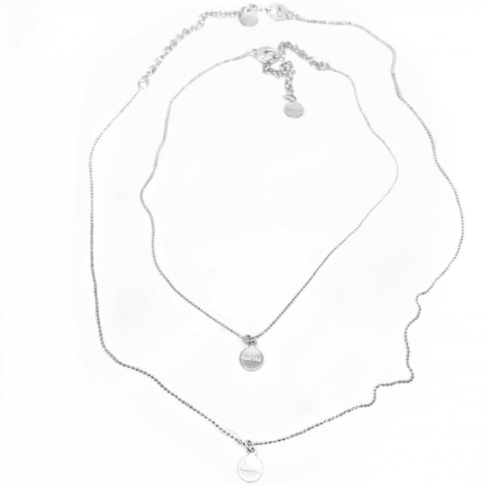 925 sterling zilveren fijne kettingen set 38 & 50 cm