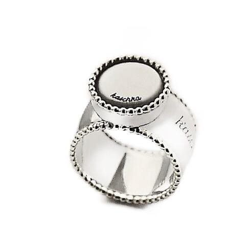 925 sterling zilver K'aschon ring dubbele sierlijke rand met wisselbare inlay