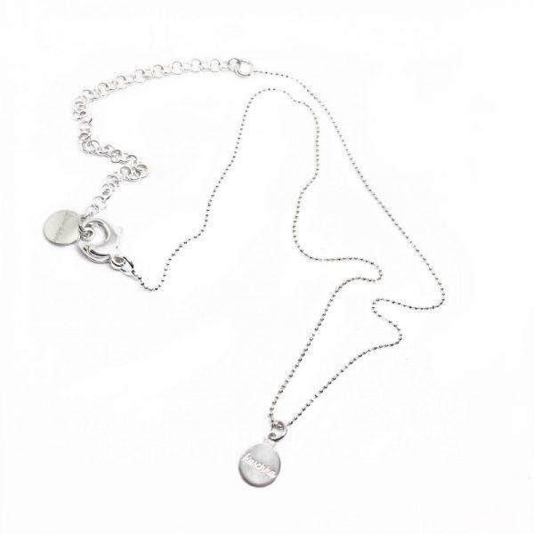 925 sterling zilveren fijne ketting met k'aschka plaatje 50 cm
