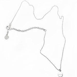 925 sterling zilveren fijne ketting met k'aschka plaatje 38 cm