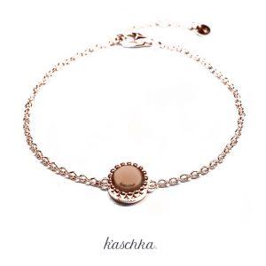 925 sterling rose laag verstelbare rose armband met vaste kasminis