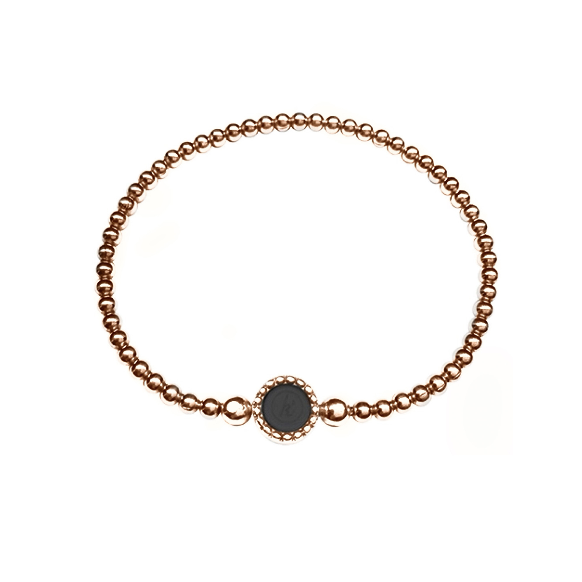 925 sterling zilveren rose flexibele armband met ronde kasminis