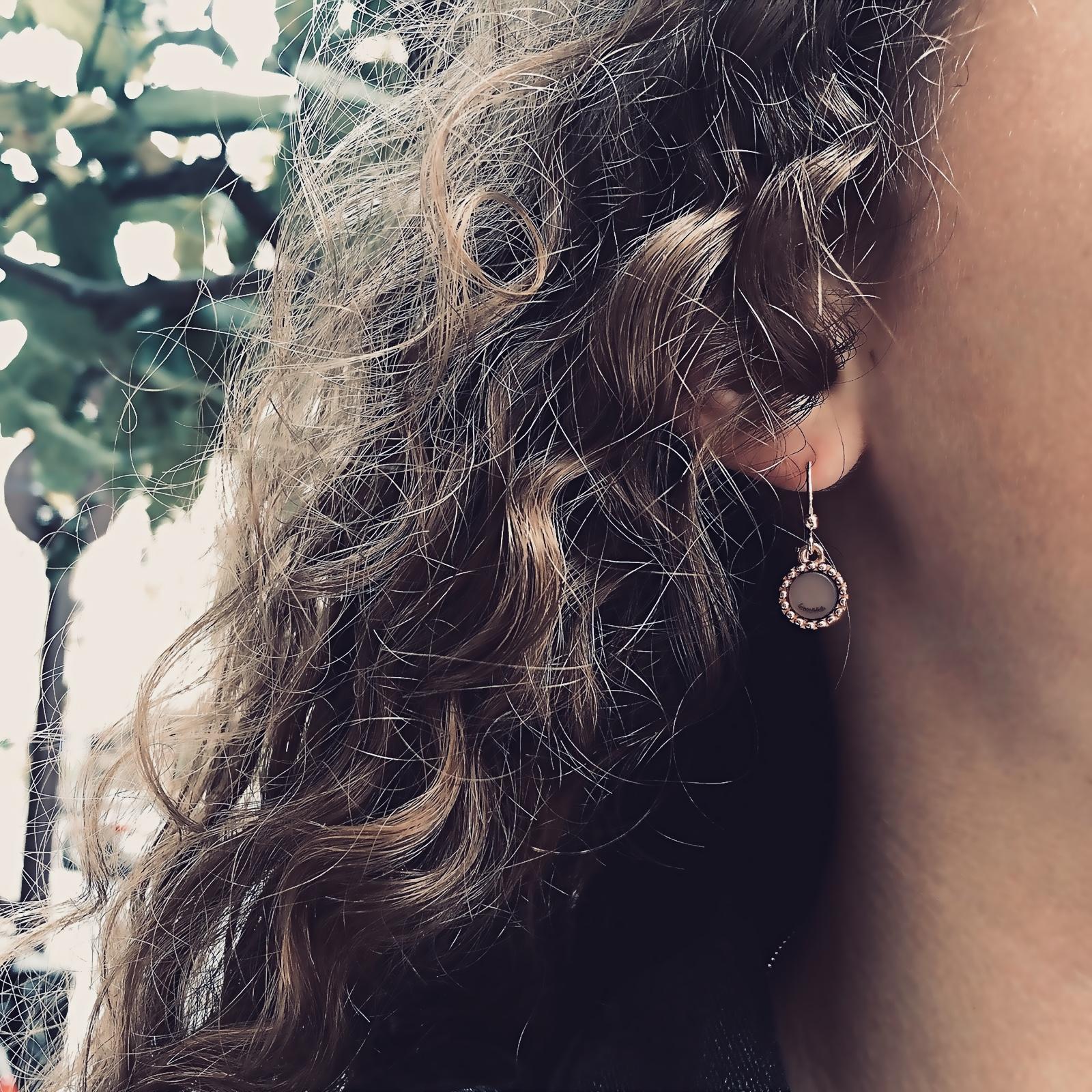 925 sterling zilveren oorbel hanger kasminis rond