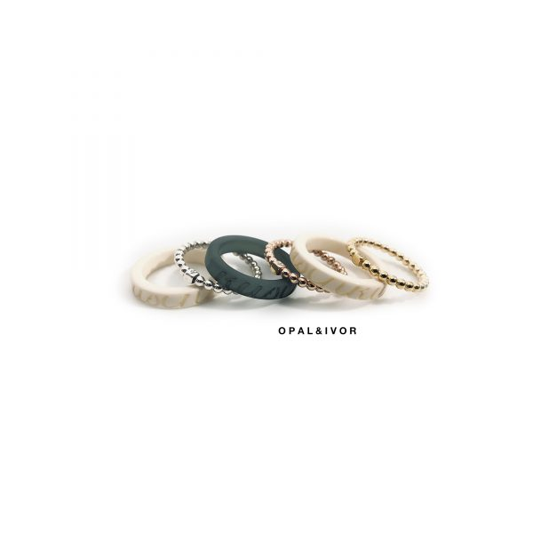 Ecologisch product typoring color: een ring in de kleur van je inlay
