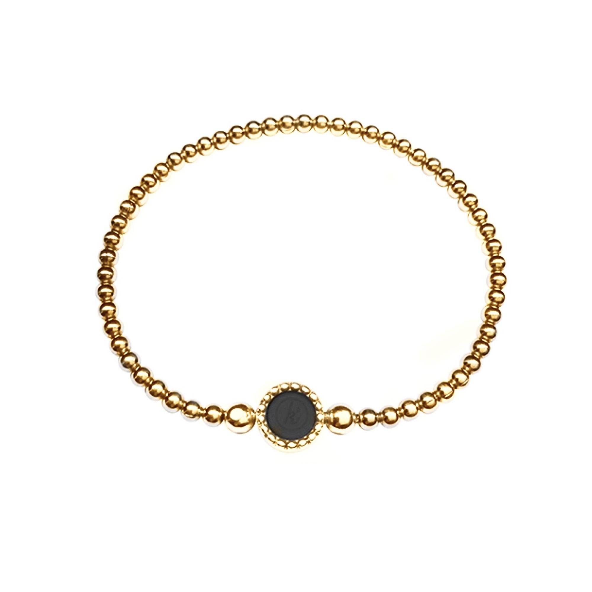 925 sterling zilveren gouden flexibele armband met ronde kasminis