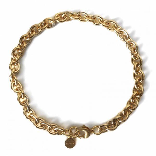 Goud plated jasseron collier