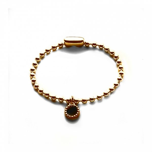 Rose plated ballchain armband small 3,5 mm
