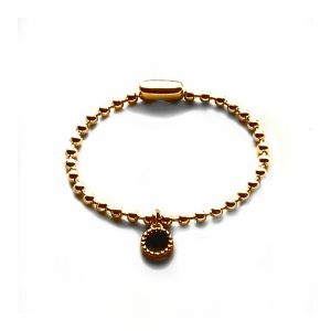 Goud plated ballchain armband small 3,5 mm