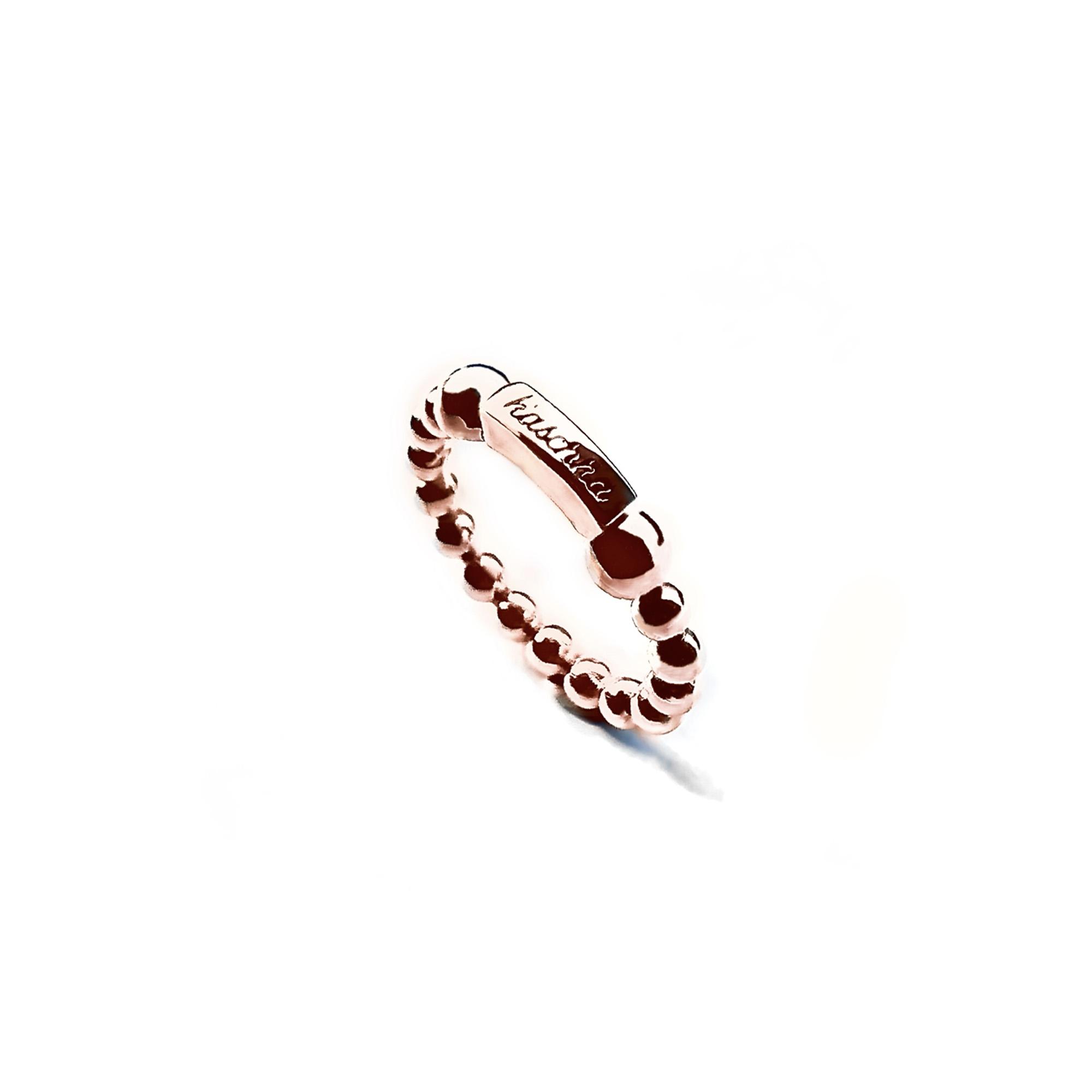 925 sterling zilver flexibele ring met staafje rose