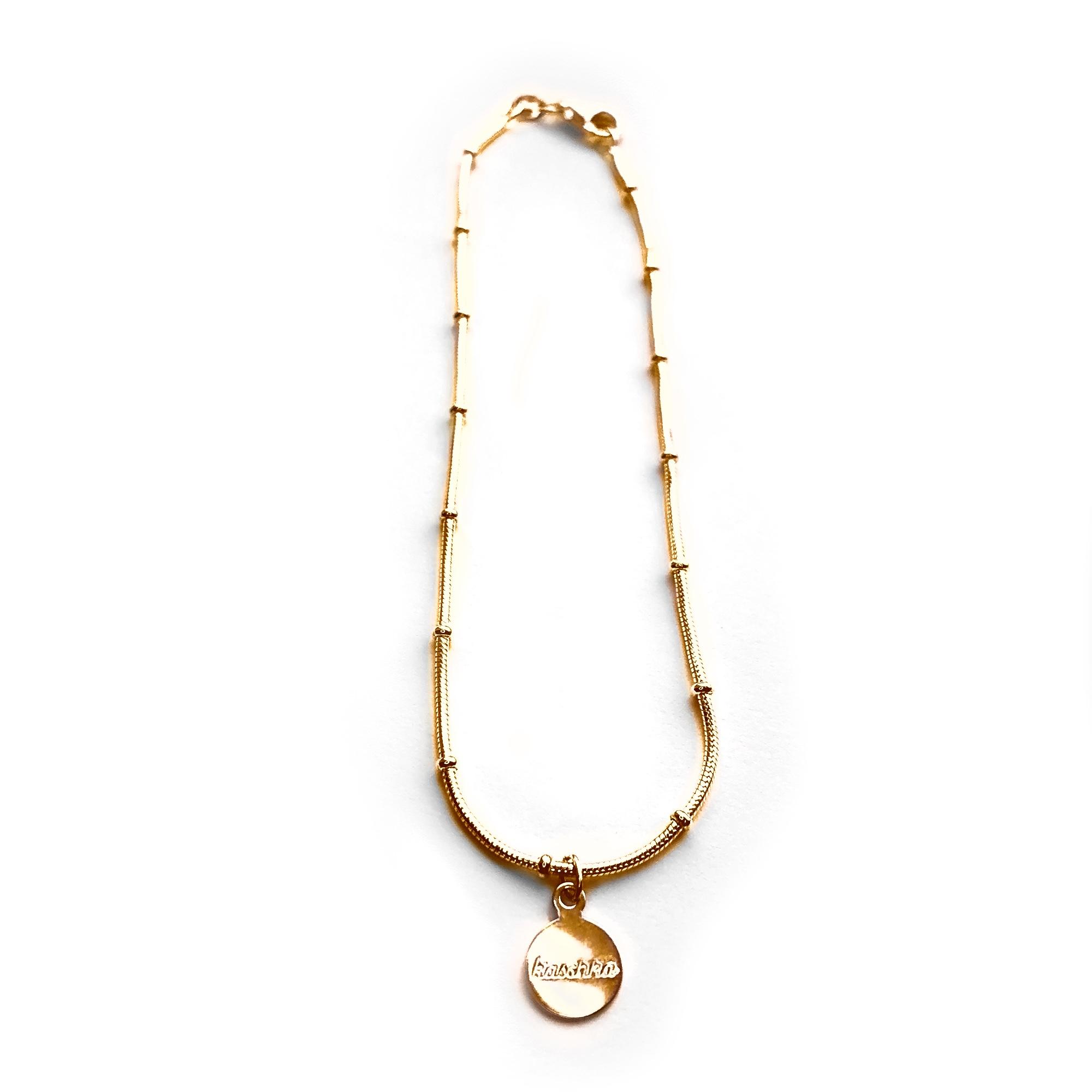 925 sterling zilver balletjes enkelbandje in goud - Kaschka Jewellery