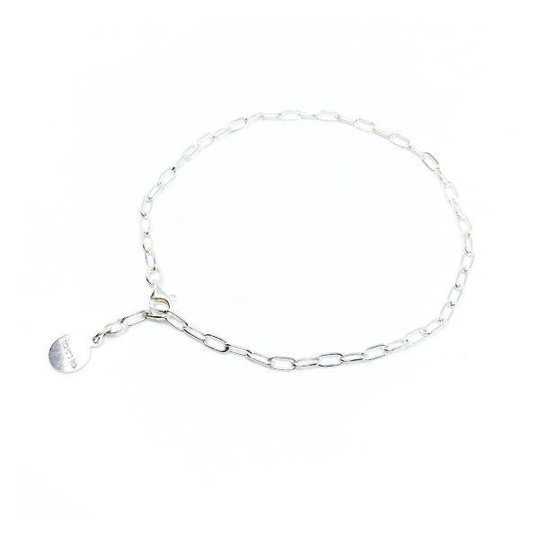 925 sterling zilver soepelvallend enkelbandje in zilver, goud of rose
