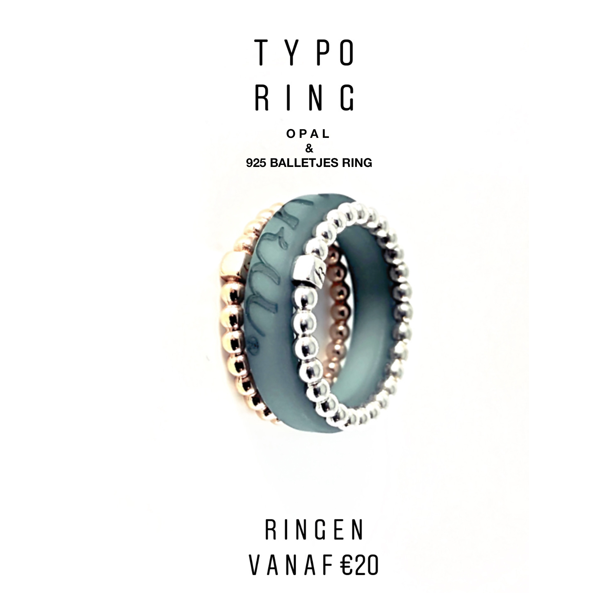 Ecologisch product typoring color: een ring in de kleur van je inlay