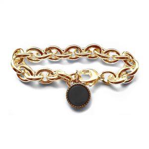 Armband jasseron goud plated ovalen schakel