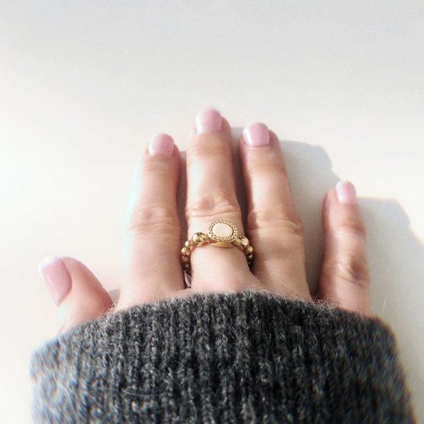 925 sterling zilver flex ring goud met vaste kleur kasminis