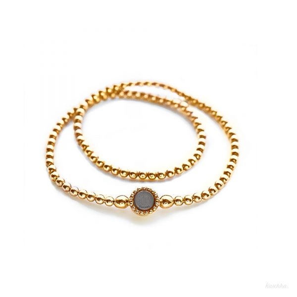 925 sterling zilver long flex armband goud