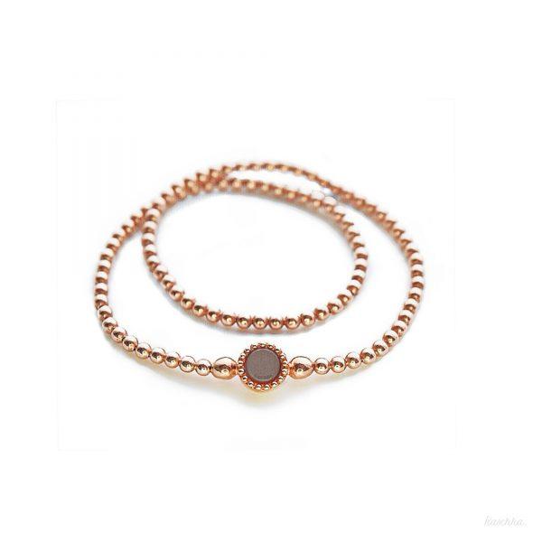 925 sterling zilver long flex armband rose