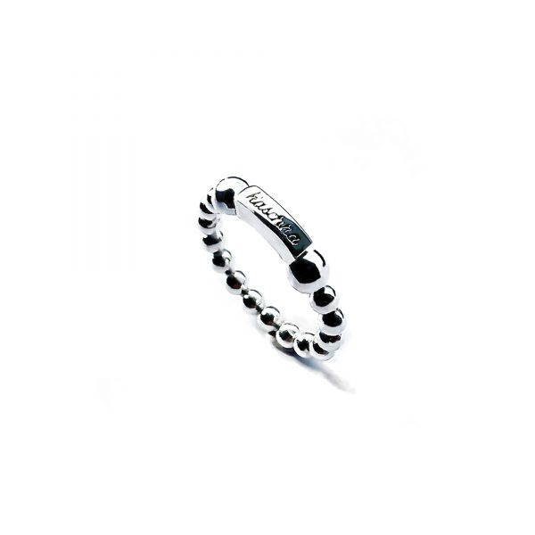 925 sterling zilver flexibele ring met staafje