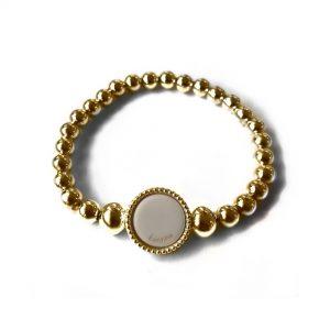 Grove ballchain midi wisselbare flex armband goud