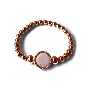 Grove ballchain midi wisselbare flex armband rose