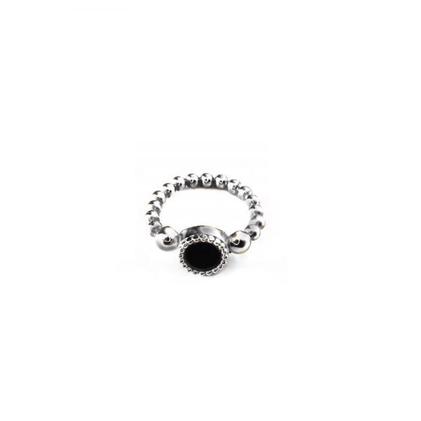 925 sterling zilver flex ring met vaste kleur kasminis