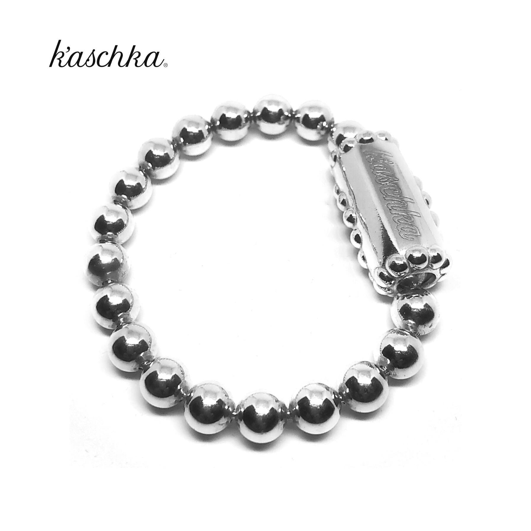 Massief 925 sterling zilver grote ballchain flex armband met sierslot