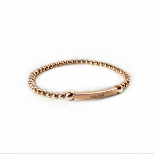 925 sterling zilver rose flex armband met staafje