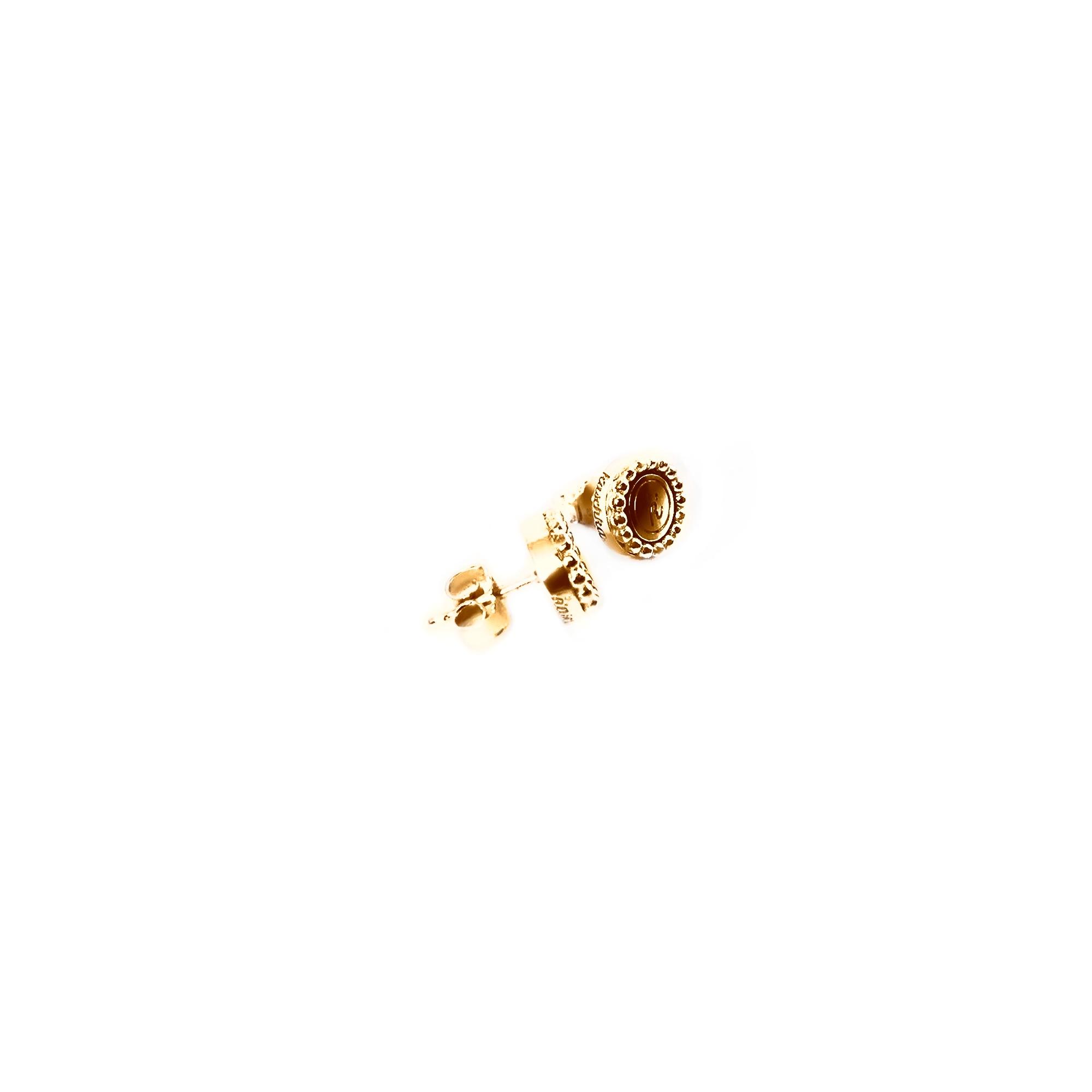 925 sterling zilver oorstekers goud met steel deluxe inlay