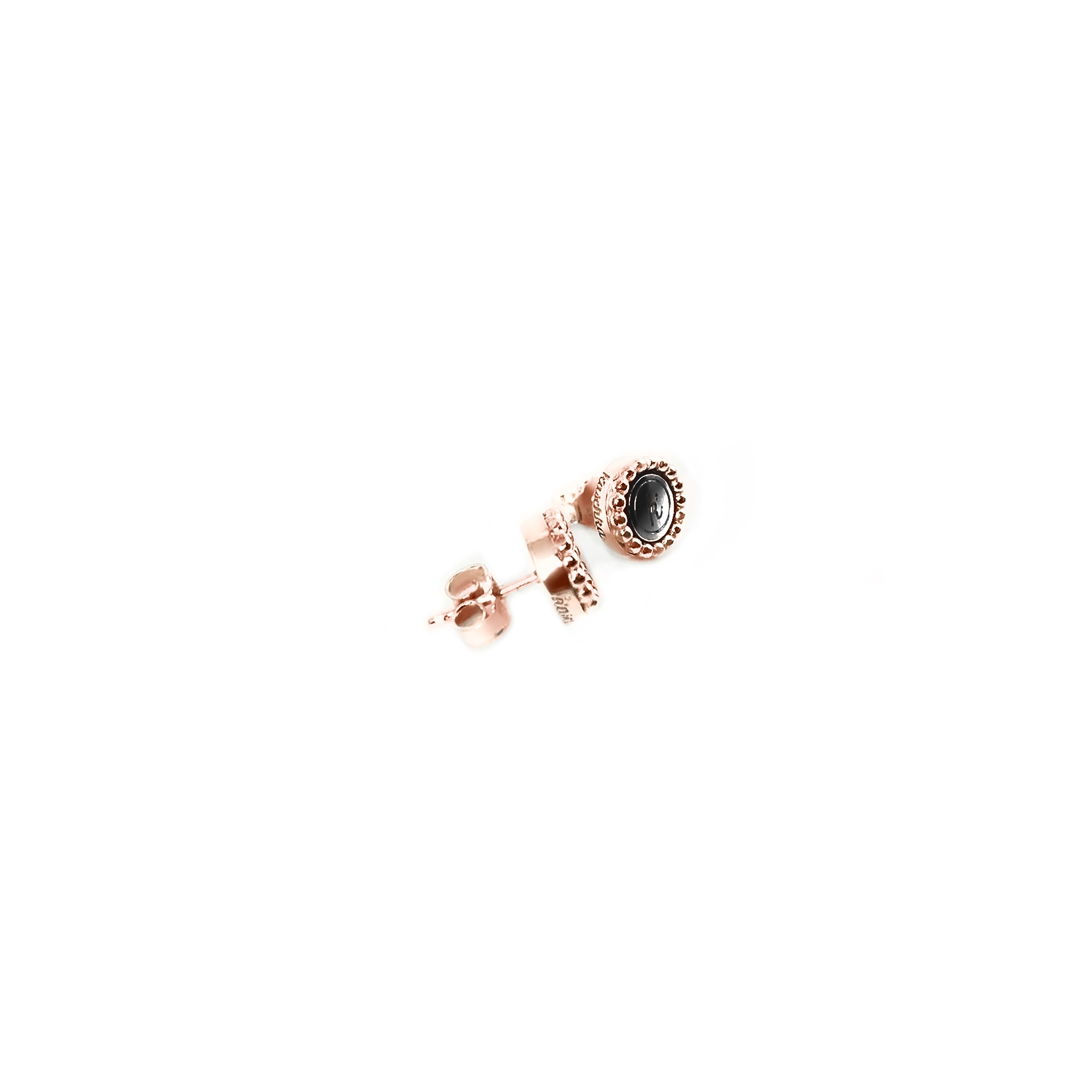 925 sterling zilver oorstekers rose met steel deluxe inlay zilver