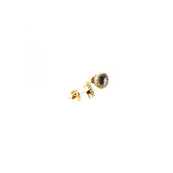 925 sterling zilver oorstekers goud met steel deluxe inlay zilver