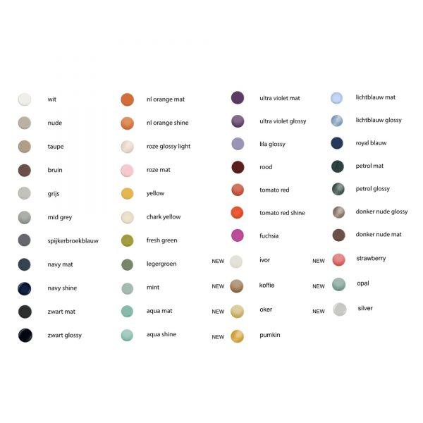 Alle kleuren lijst Color Farben