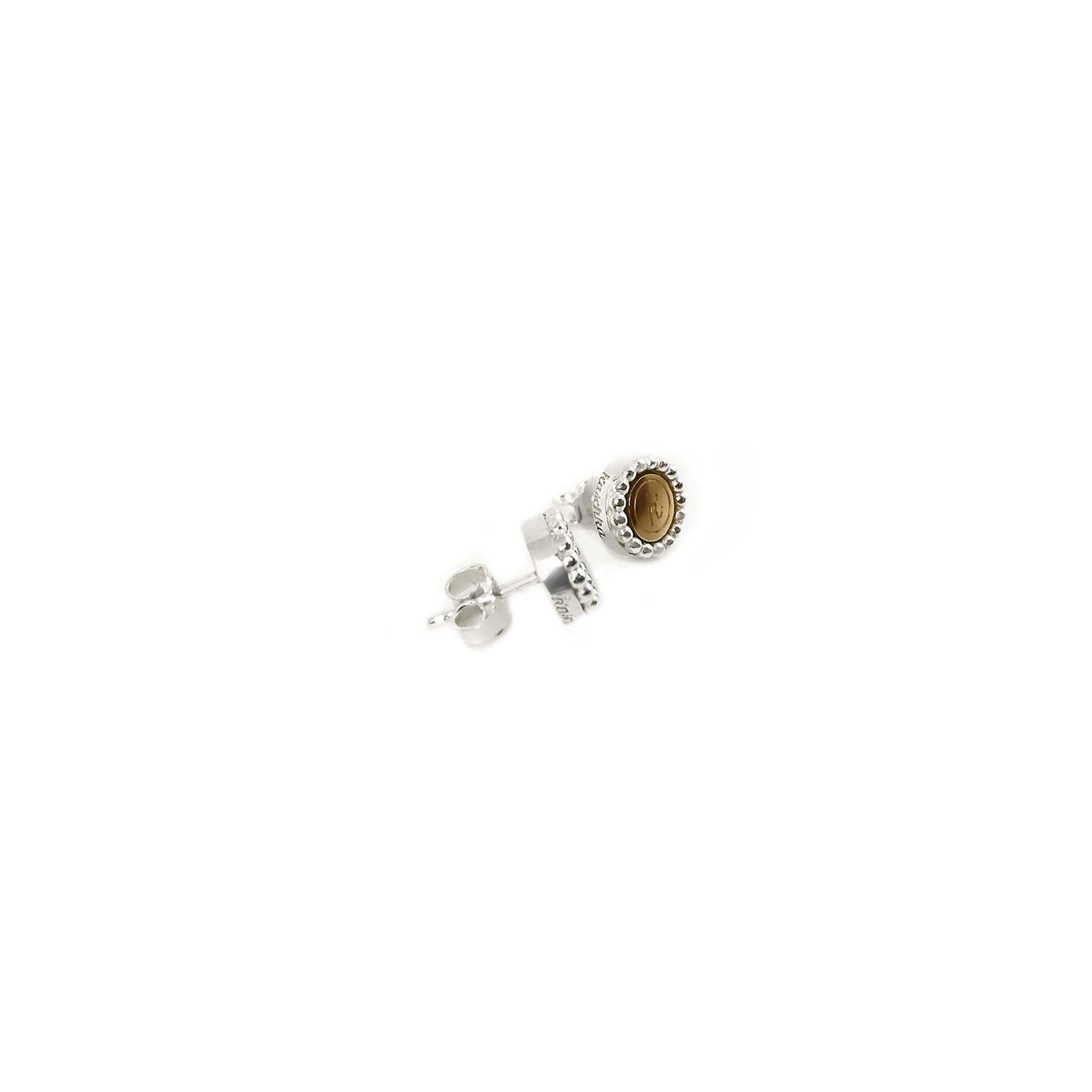 925 sterling zilver oorstekers met steel deluxe inlay goud