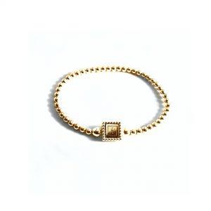 Steel deluxe flex armband goud met gouden inlay