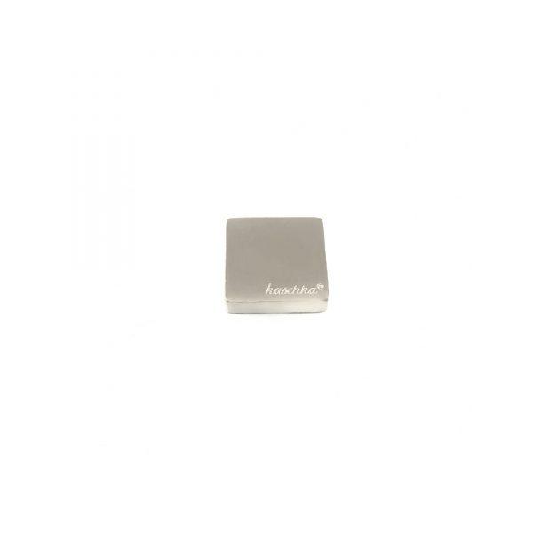 Steel deluxe inlay zilver vierkant