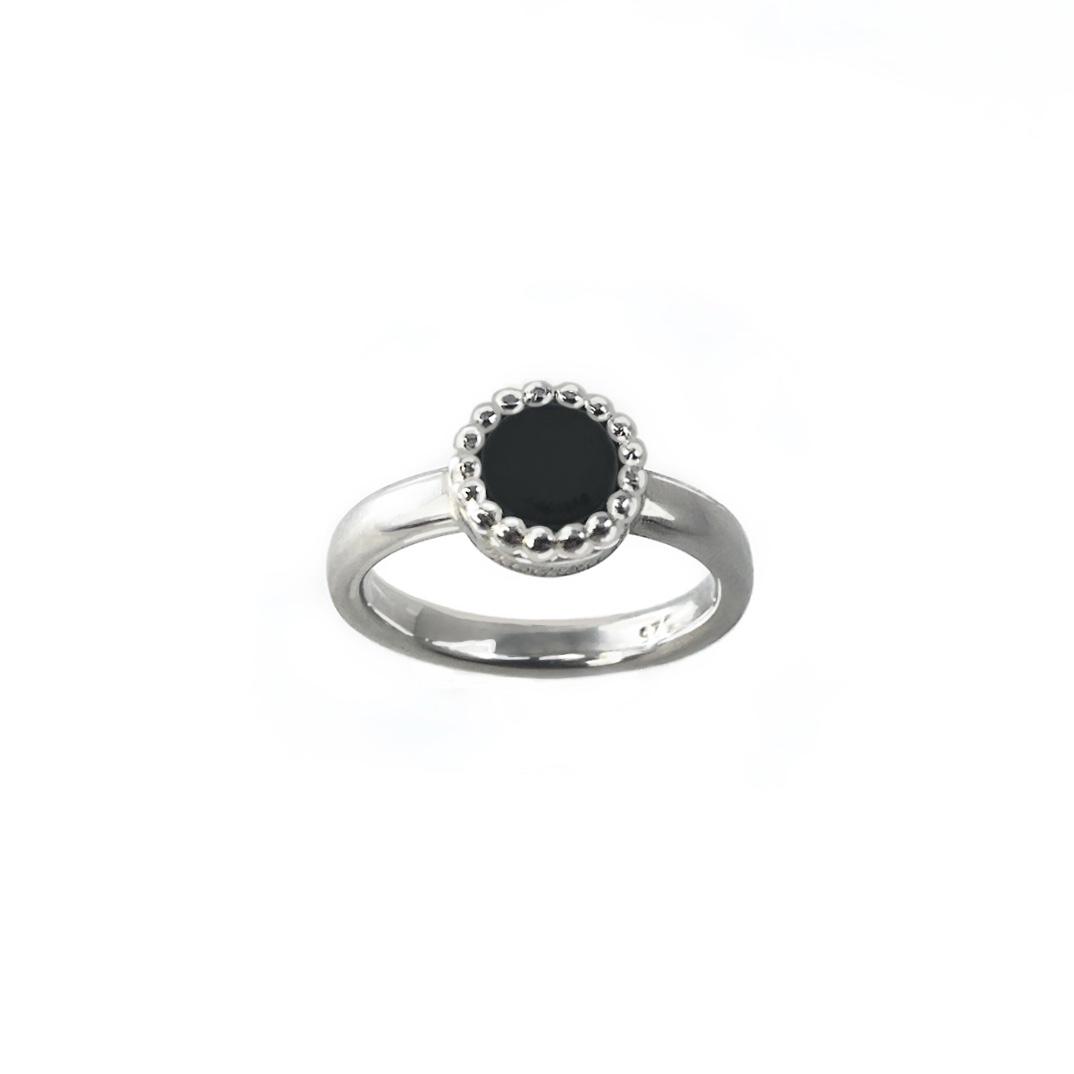925 sterling zilver smalle ring met ronde kasminis