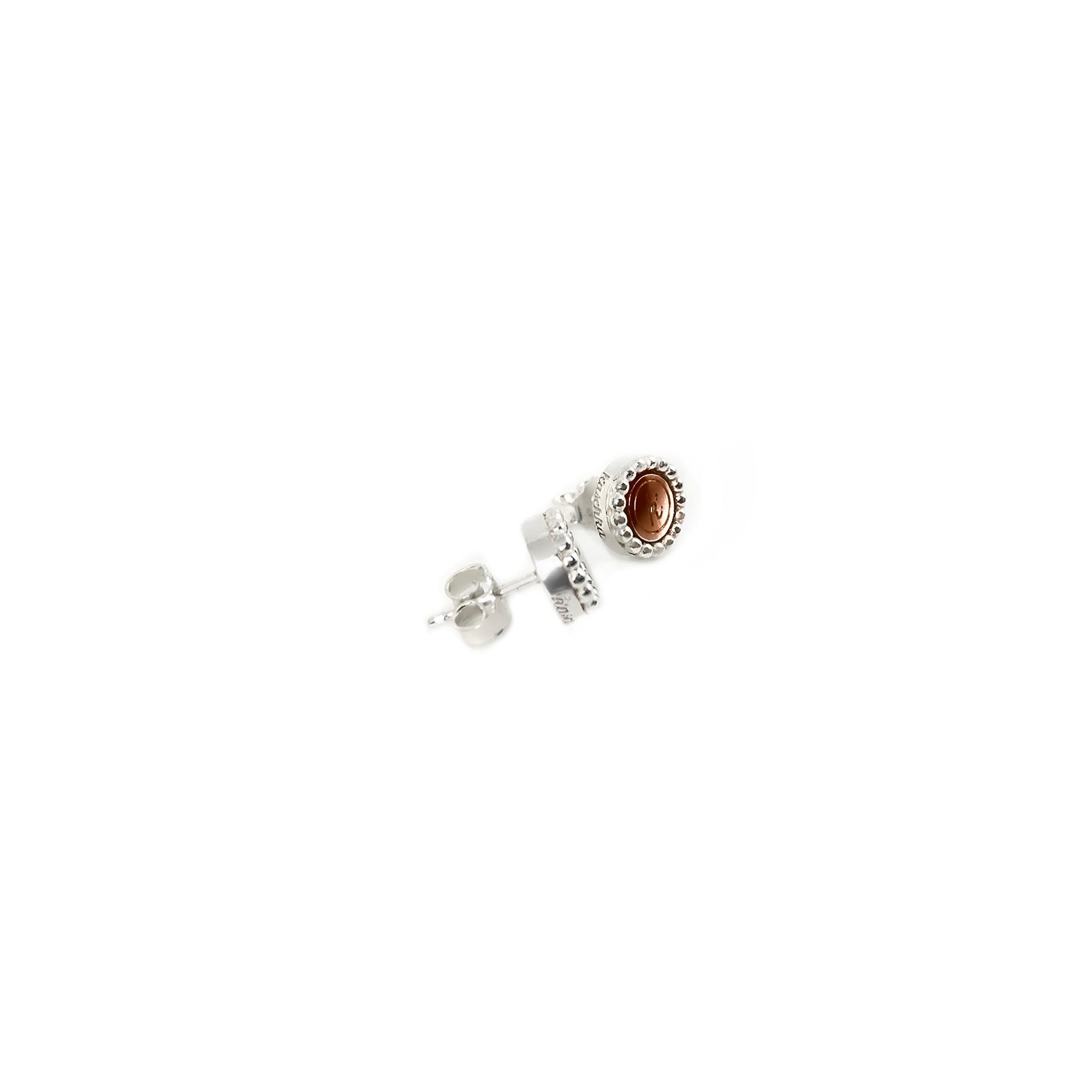 925 sterling zilver oorstekers met steel deluxe inlay rose