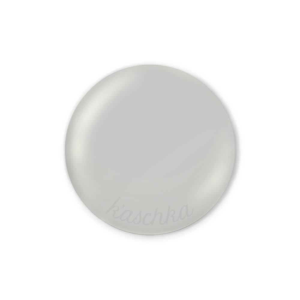 Inlay silver large naamlogo rond