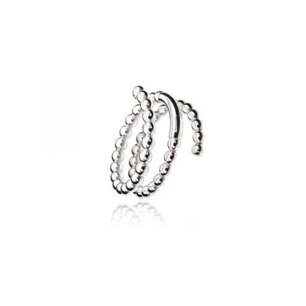 925 gedraaide ring