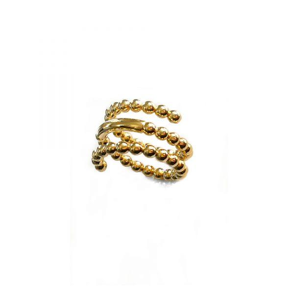 925 gedraaide ring verguld